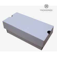 Custom made white corrugated shoes box