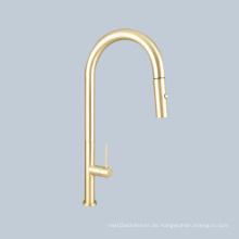 Waschbecken Schaltergriff goldene Teleskoparmatur