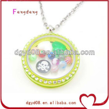 Großhandel Acryl Medaillon Halskette