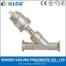 Conexão de rosca válvula de drenagem de 2 ângulos, corpo de válvula em aço inoxidável, tipo pistão, KLJZF-20SS