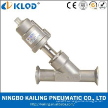 Резьбовое соединение 2 углового сливного клапана, корпус клапана из нержавеющей стали, поршневой тип, KLJZF-20SS