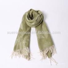 Blätter Jacquard Wolle Schals