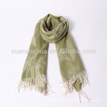 leaves jacquard wool shawls