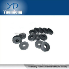 Black nylon plastic flat washer