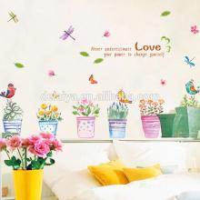 Сад горшок DIY ПВХ наклейки для детей спальня украшение