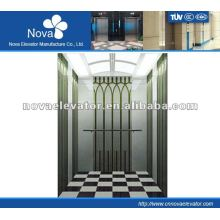 Hairline/etching/mirror stainless steel elevator for buliding, high speed