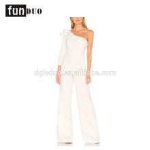 2018 mulheres elegantes macacões brancos calças macias novo design macacões 2018 mulheres macacões soltos calças macacões sem mangas