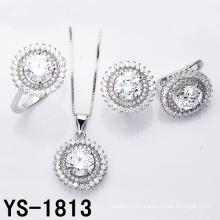Ensemble de bijoux Fashion Rhodium plaqué mariage bijoux en argent.