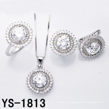 Jewelry Set Fashion Rhodium Plated Wedding Silver Jewellery.
