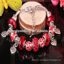 Pulsera hecha a mano del estilo del DIY del estilo europeo Brazaletes de cristal del murano de la pulsera