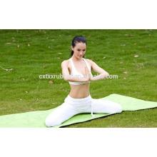Esteira de ioga orgânica de borracha natural com impressão design maravilhoso
