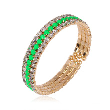 Xuping Fashion Colorful Rhinestone Bangle