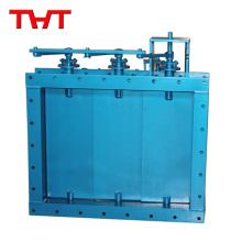 Hhand-operated/electric-hydraulic louver damper valve