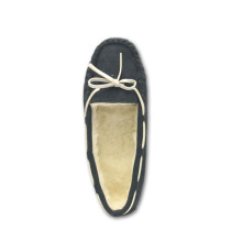 Online Exporter for Ladies Leather Moccasins Shoes black moccasins home slippers for womens supply to Equatorial Guinea Exporter