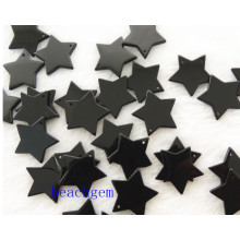 Jewelry Parts-Natural Black Onyx Star Beads