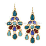 Drop Earrings, Traditional and Classic Design, Decorated with Resin StoneNew
