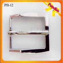 PB12 kundenspezifische silberne Metallgürtelschnalle leer / Art und Weisegurtwölbung / Manngürtelschnalle 35mm