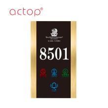 Tempered Glass Customized Hotel doorplate