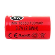 Hot Sale Universal Aw18350 700mAh 3.7V Lithium Titanate Dry Battery