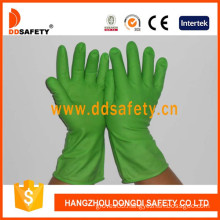 Latex/Rubber Gloves DIP Flock Liner, Long Cuff (DHL613)