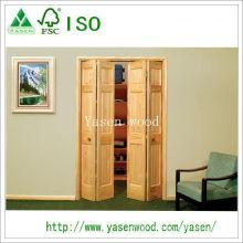 Porte en bois personnalisée de style de famille de pin