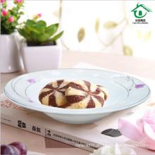 Cerâmica chinesa elegante placa de jantar fina porcelana