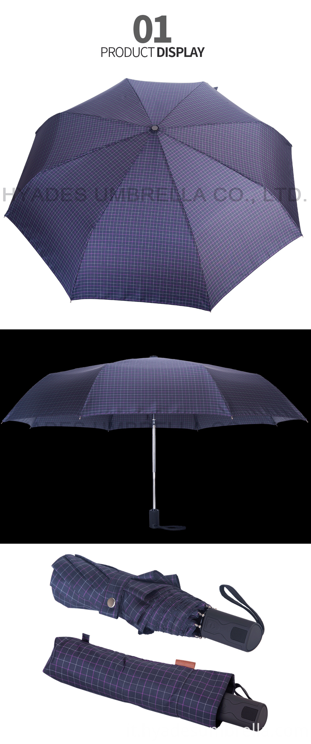 Auto Open And Close Folding Umbrella Auto Open And Close