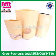 Professional supplier strong bottom sealing stand up moistuer proof kraft paper tea bag