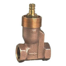 Bronze stop valve with zinc alloy handle and hex-nut threaded (V52001)