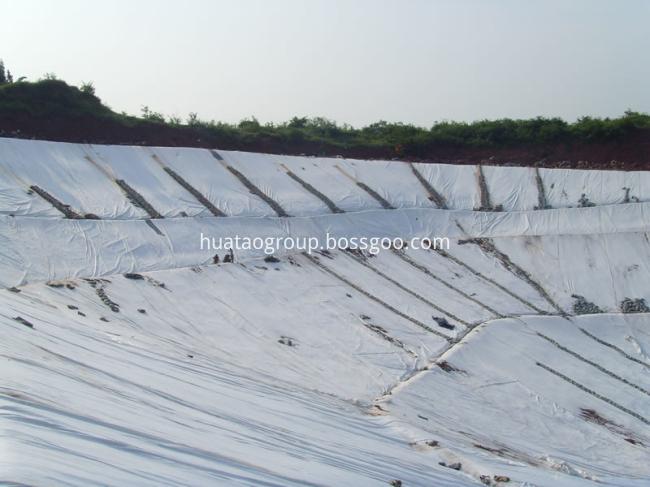 Nonwoven geotextile application