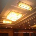 High Quality Hotel Decorative Multilayer Square Resin Ceiling Lamp