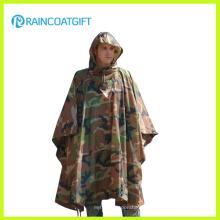 Dauerhafte Armee Camouflage Regen Poncho Rpy-019