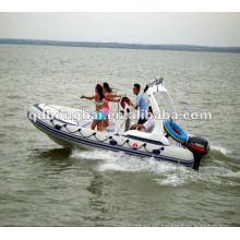 barco de fibra de vidrio RIB580C rígido inflable lancha