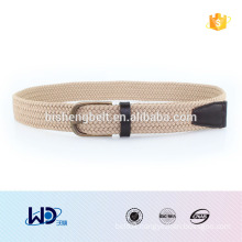 2016 fashion stud solid color mens fabric elastic braided belts