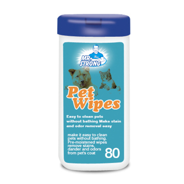 Antibacterial Dog Puppy Pet Grommy Deodorant Cleaning Wet Wipes