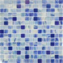 Nebula gold line blue and white porcelain tiles