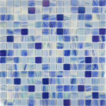 Синий и белый керамогранит Nebula Gold Line