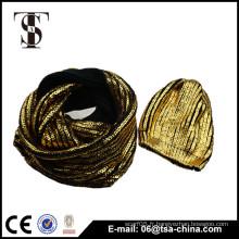 Chaussure et écharpe à imprimé bronzant bling bling