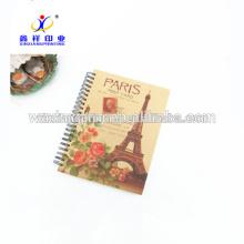 El último cuaderno espiral popular de la venta caliente, cuaderno espiral