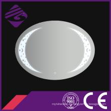 Jnh244 Espejo de cristal oval del cuarto de baño de la nueva llegada con el reloj