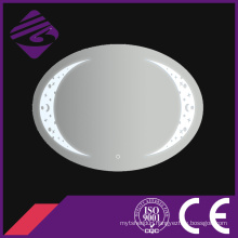 Jnh244 New Arrival Oval Bathroom Glass Mirror with Clock
