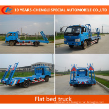 180 HP Flat Bed Truck Flat Bed Machine Equipment Transport Truck