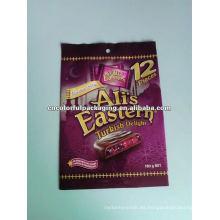 Bolsas de embalaje de galletas flexibles de chocolate de impresión y laminación