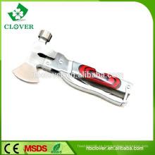 Herramienta de múltiples funciones de acero inoxidable de alta calidad con martillo y hacha