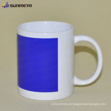 11oz Sublimación Taza Blanca Con Color Azul Patch Cambiando Sunmeta en yiwu