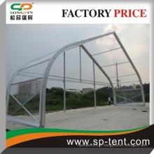Grand châssis en aluminium transparent pvc tente courbé 25x30m en vente