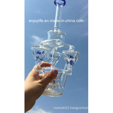 8 Inch New Arrival Mini Portable Recycler Glass Pipe