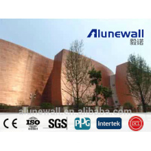 2 meter width A2/B1 fireproof Copper Composite Panel CCP exterior wall cladding panel