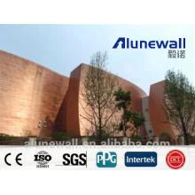 Panneau de revêtement extérieur de mur de cuivre de 2 mètres de largeur ignifuge A2 / B1 panneau de revêtement extérieur de CCP