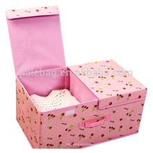 New Product Double Layer Fancy Cloth Storage Box/Foldable Storage Box